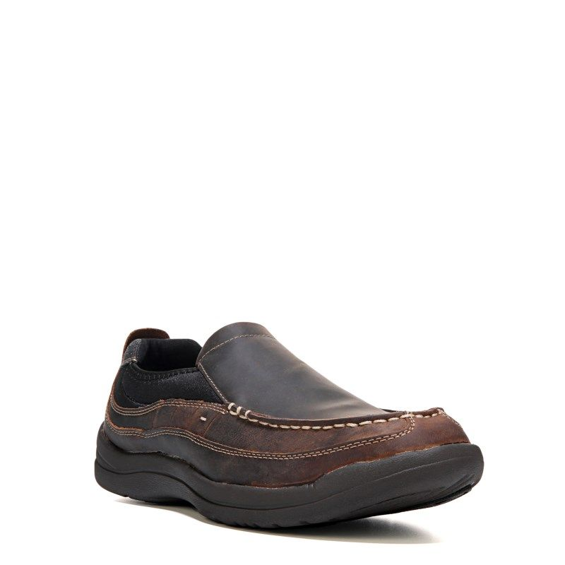 Propet Men's Hugh Medium/X-Wide/XX-Wide Slip On Shoes (Coffee Leather)