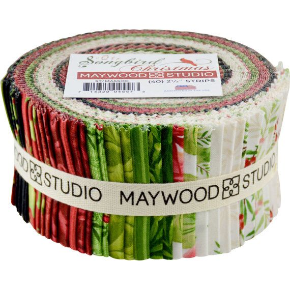 songbird christmas jelly roll 25 inch fabric by jambearies