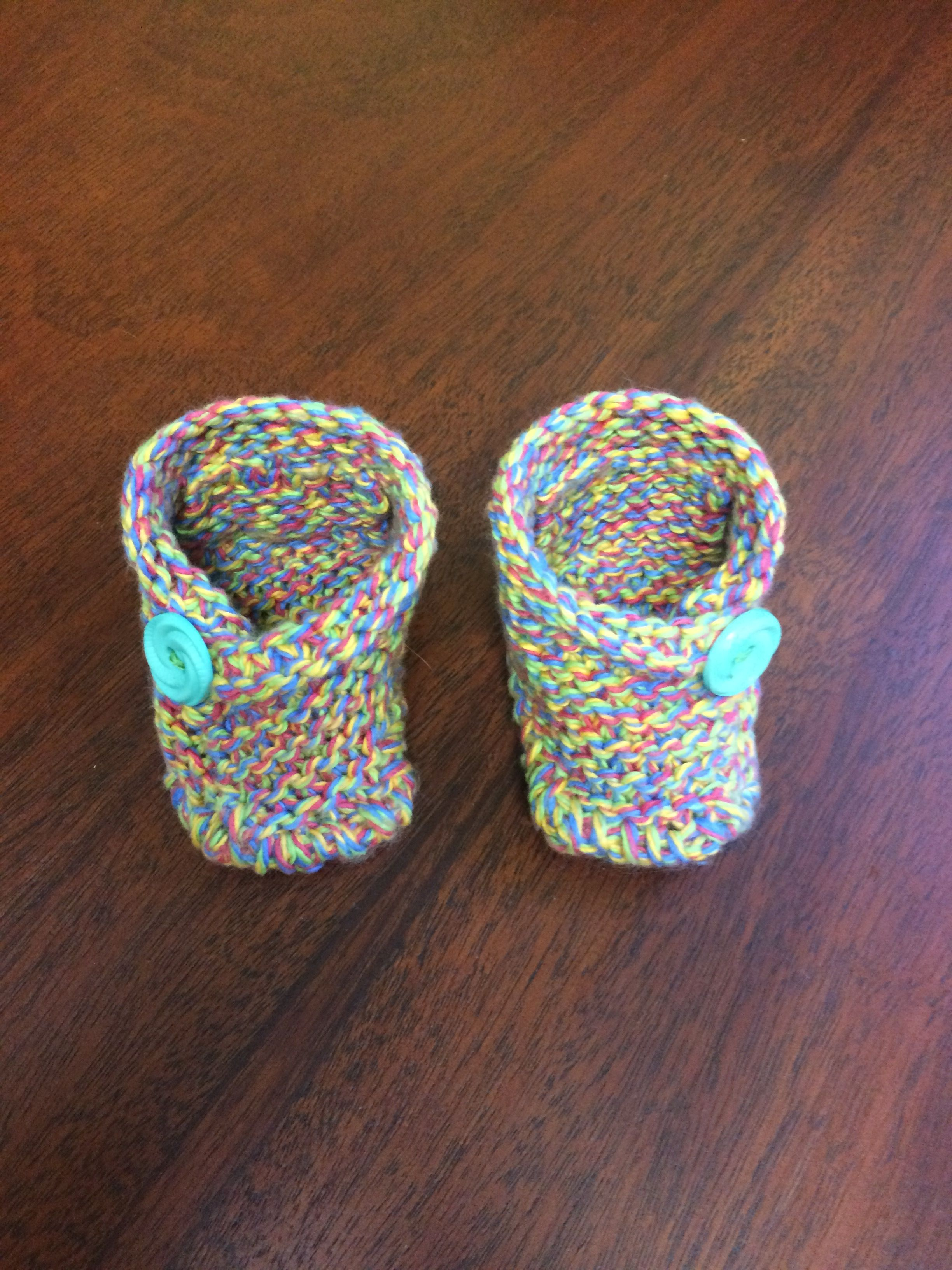 Free Pattern for the EASIEST knit Cotton Baby Booties. You can ...