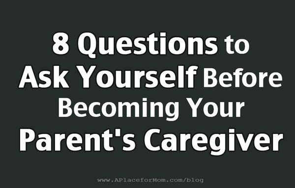 Becoming Your Parent's Caregiver   This or that questions ...