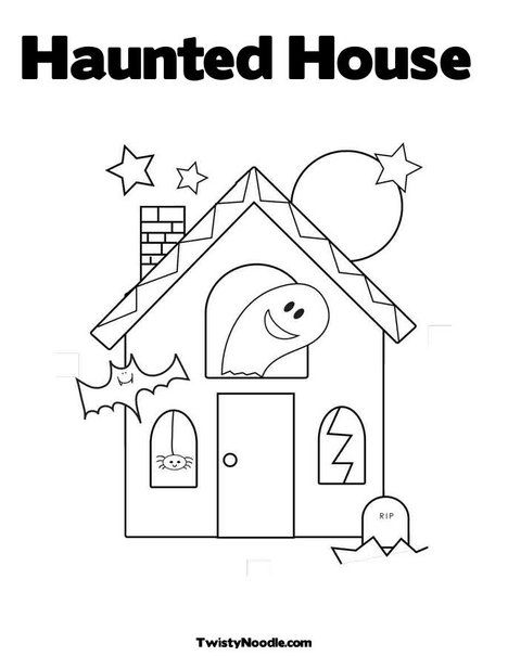 24++ Cute haunted house coloring pages info