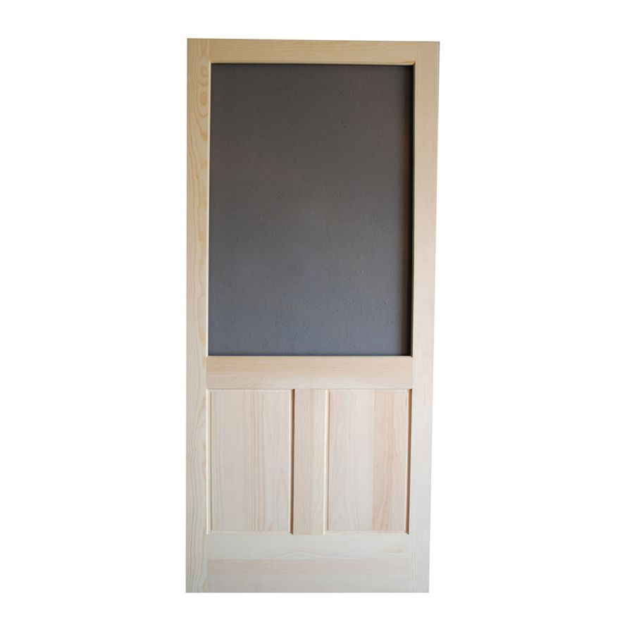 Screen Tight Pioneer Natural Wood Hinged Screen Door Common 36 In X 80 In Actual 36 In X 80 In Screen Tight Decorative Screens