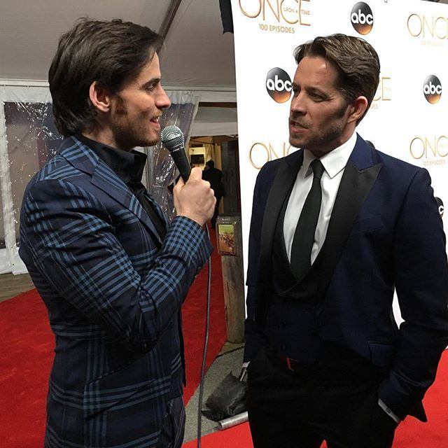 """""""One more of @colinodonoghue1 and @iamseanmaguire doing their own interview! @onceabcofficial #once100"""" Photo taken by @jimhalterman on Instagram, pinned via the InstaPin iOS App! http://www.instapinapp.com (02/21/2016)"""