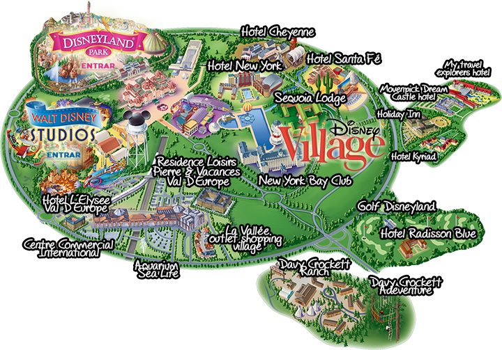 disneyvillagepng 720 503 hotels Disney – Map of Paris with Hotels