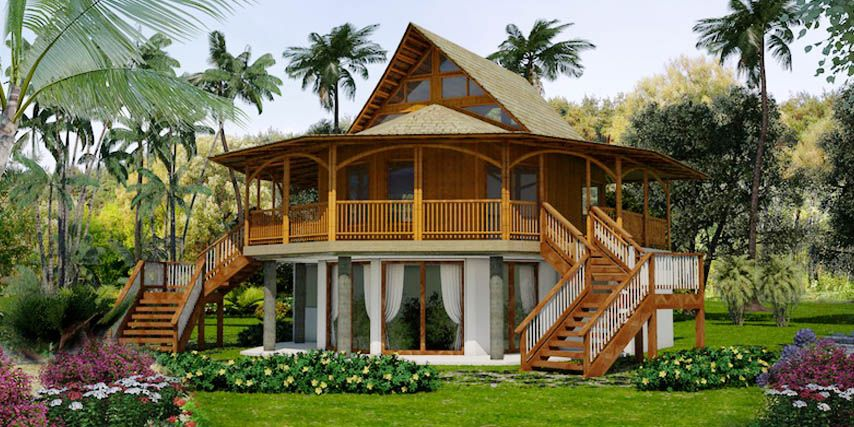 Pacific Queen Bamboo House 3 Bdrm In 2019 Bamboo House