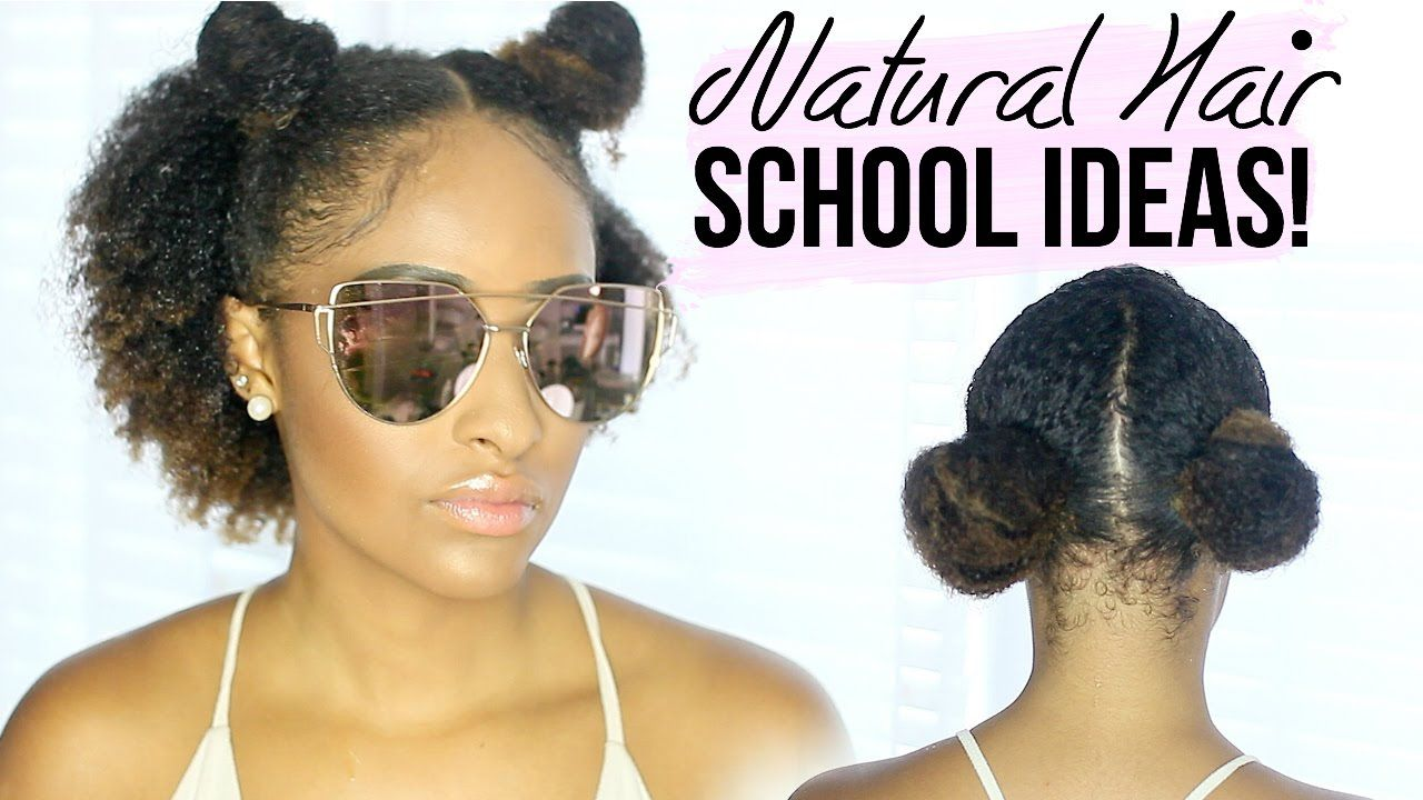 quick u easy natural curly hairstyles for school hair