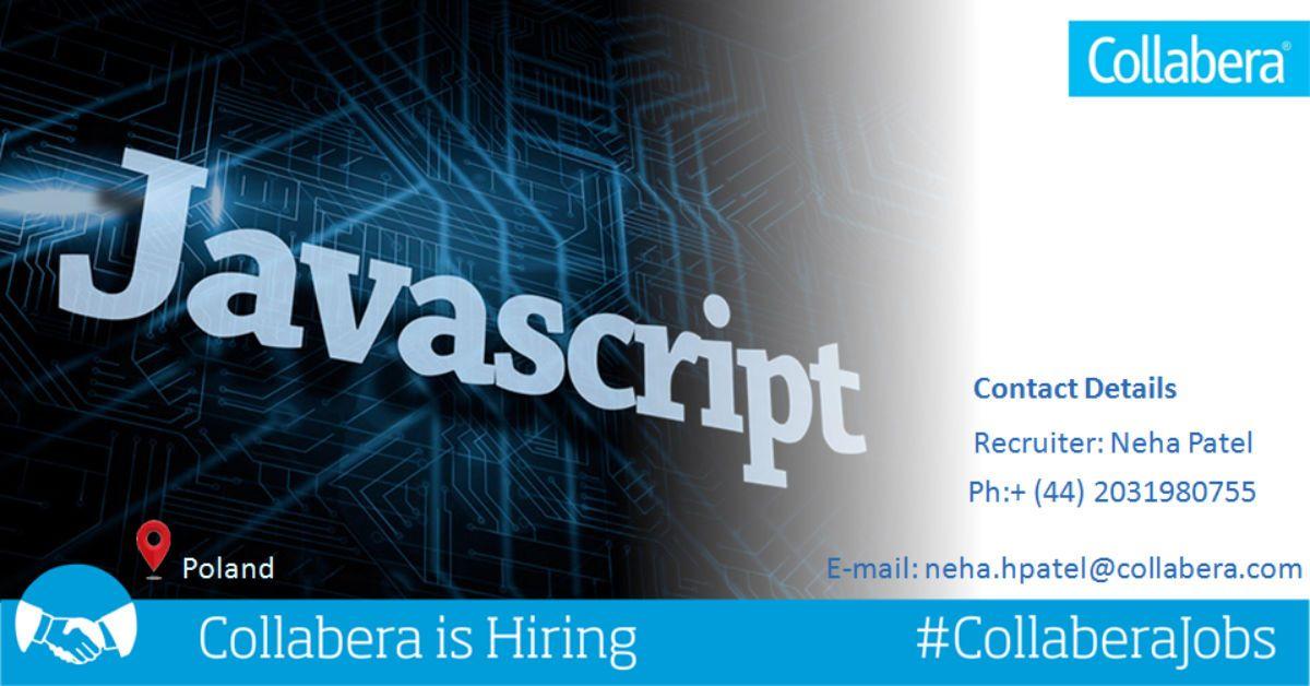Senior JavaScript Developer/Frontend Developer Job description