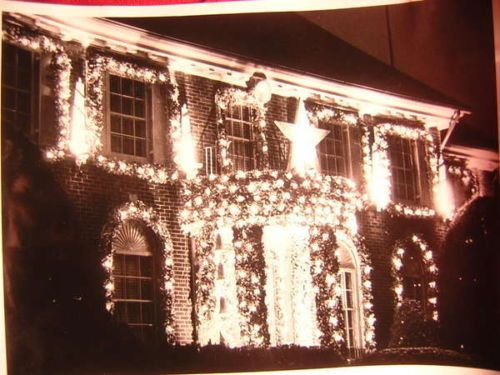 1950s old photo christmas lights utica ny ab1 ebay - 1950s Outdoor Christmas Decorations