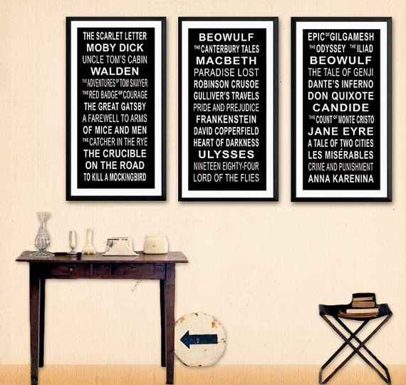 American Literature Subway Sign, Literary Poster, For Classroom, Office,  Home Or Library
