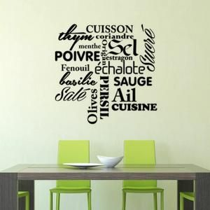 cr ative stickers muraux pour cuisine d coration id es pour la maison pinterest stickers. Black Bedroom Furniture Sets. Home Design Ideas