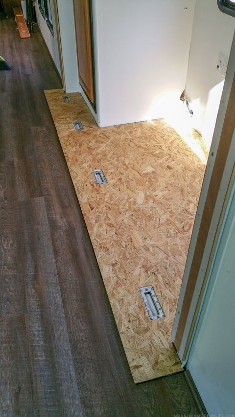 Tips To Replace The Flooring Inside An Rv Slide Out Camper Flooring Remodeled Campers Camper Living