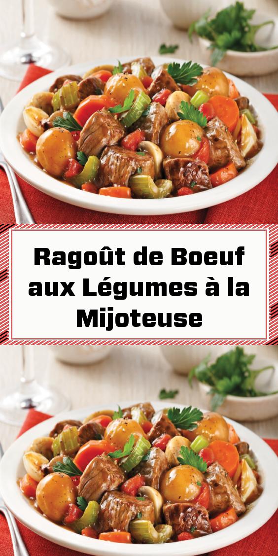 Photo of Slow Cooker Vegetable Beef Stew-Ragoût de Boeuf aux Légumes …