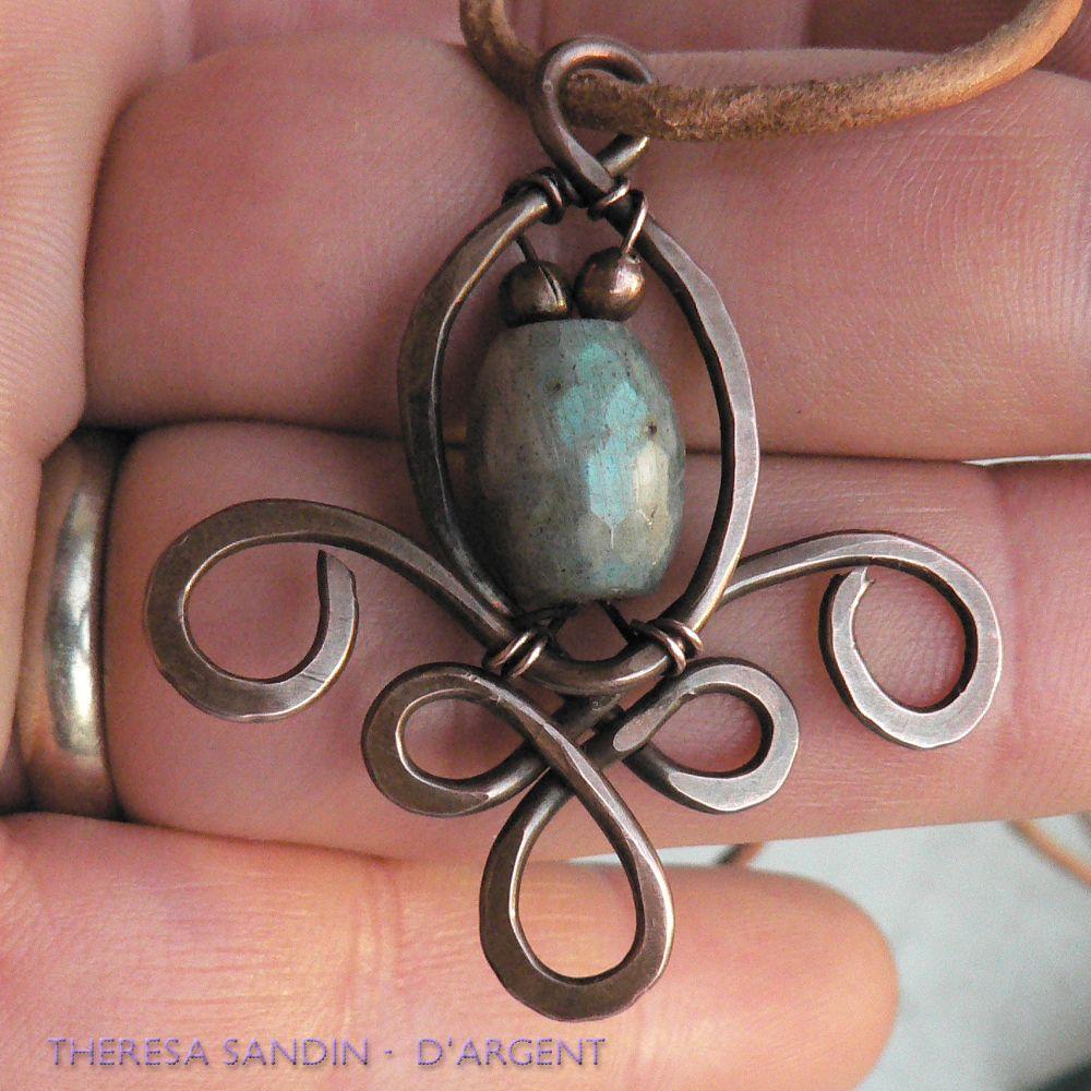 Copper wire fleur-de-lys...