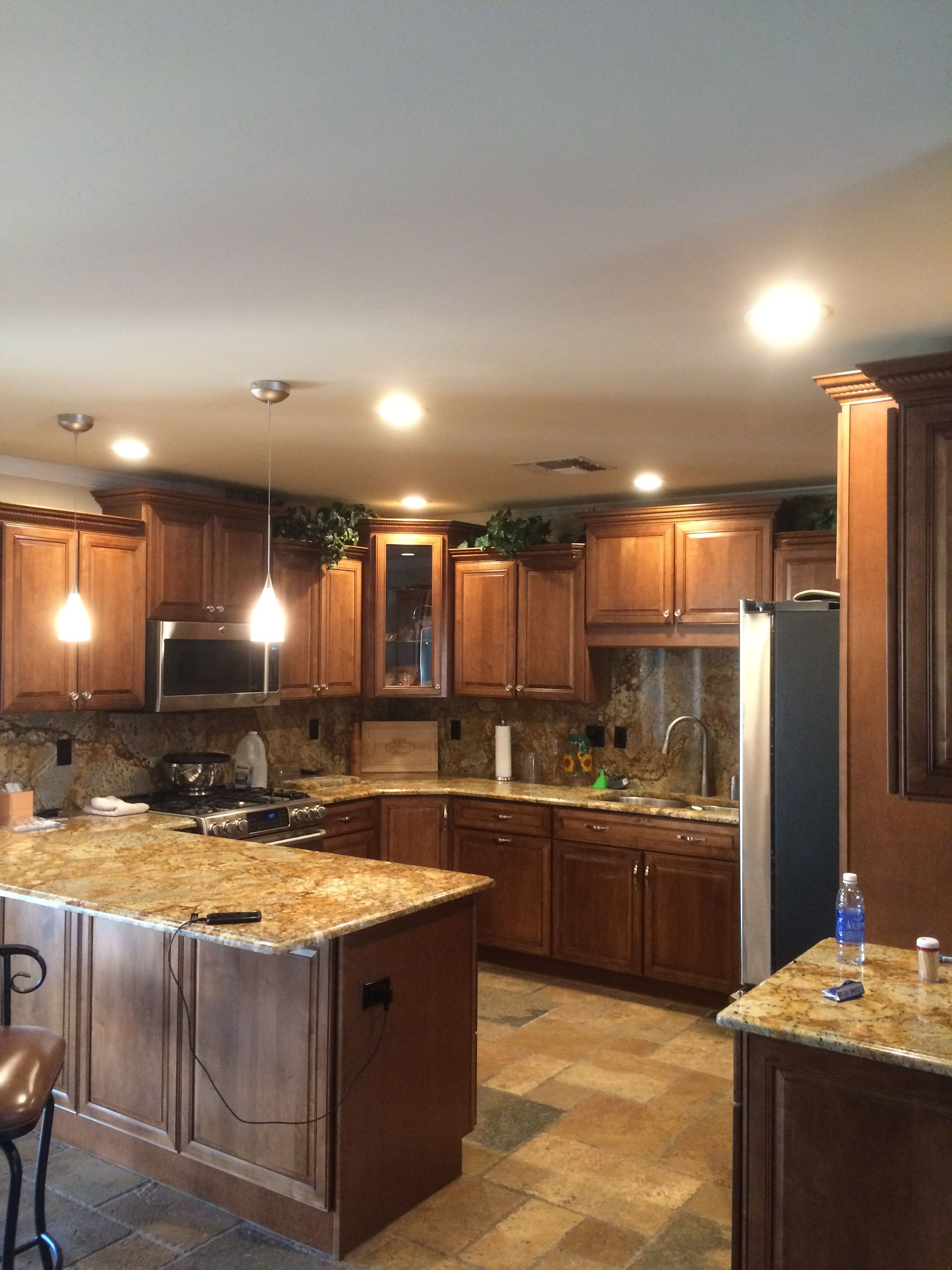 AZ Recessed Lighting installation of 4 inch LEDs in kitchen. AZ ...