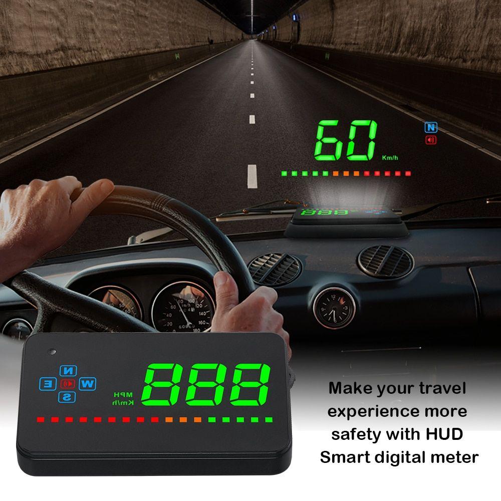 HEAD-UP DISPLAY HUD INTERNAL GPS 12 VOLT DIGITAL LED SPEEDO SPEED WARN Universal