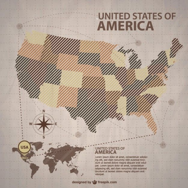 USA vector map free for download Free Vector   USA   Pinterest