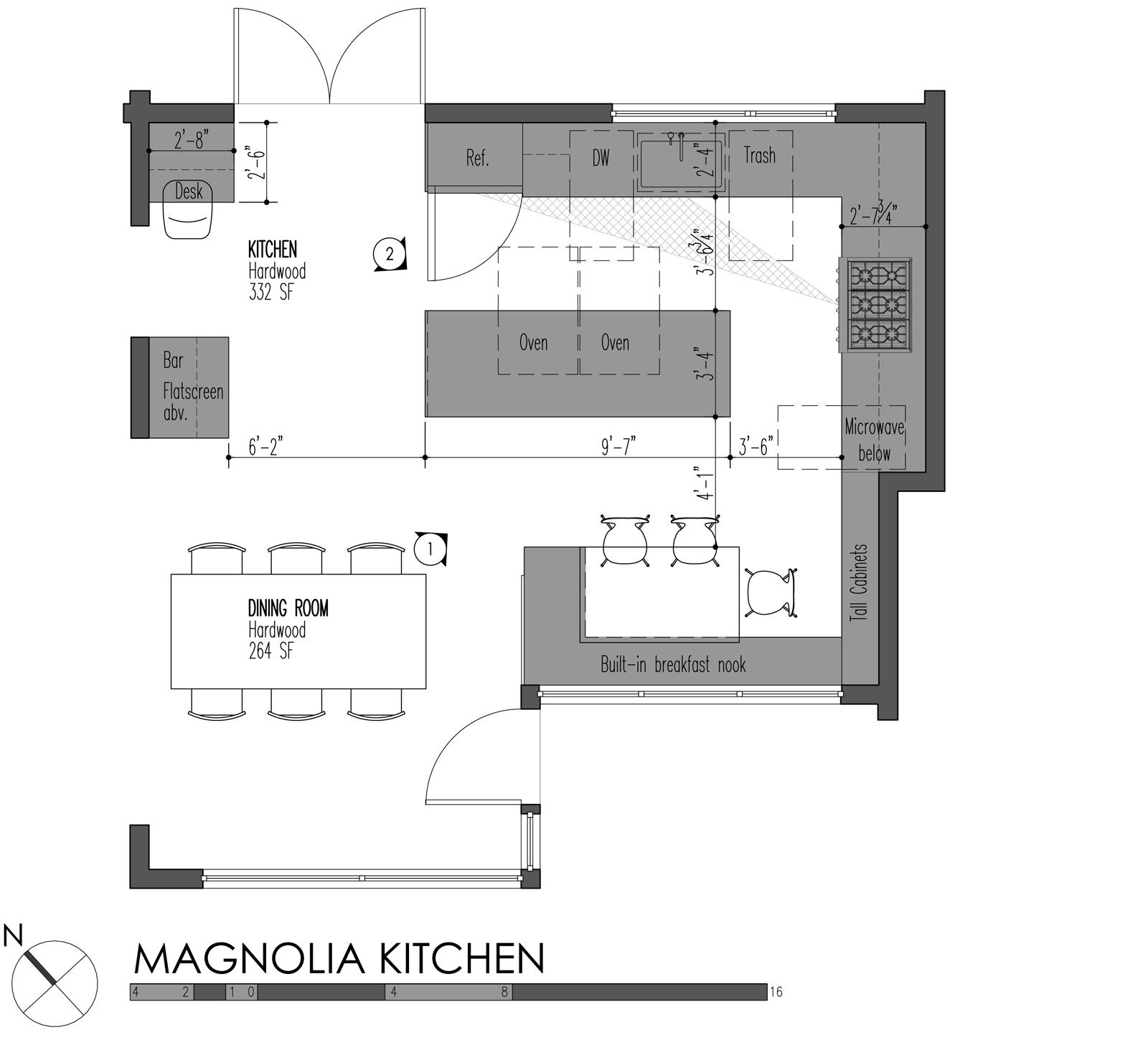 shaped kitchen floor plans with island layouts trend home ...
