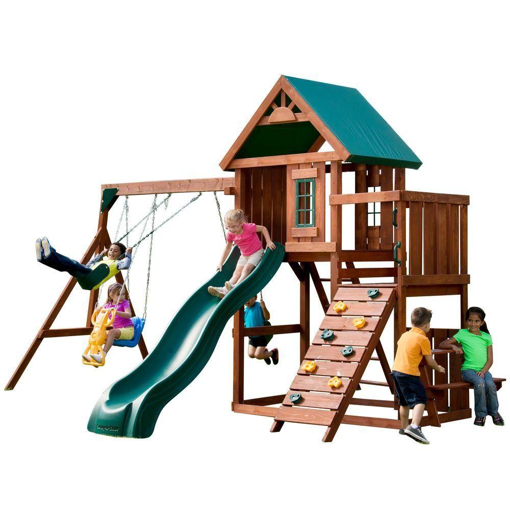 Swing-N-Slide Playsets Knightsbridge Wood Complete Swing
