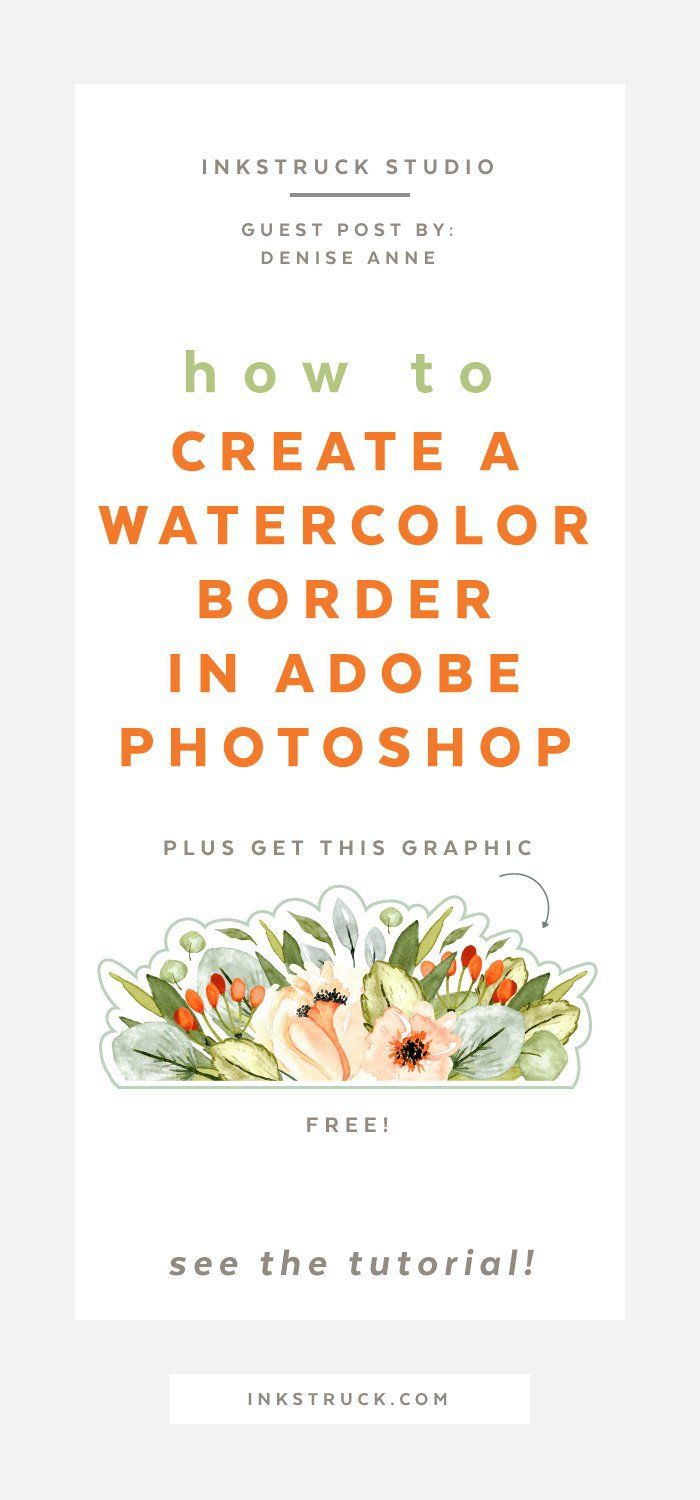 Watercolor border photoshop tutorial photoshop tutorial photoshop this watercolor border photoshop tutorial is an amazing resource for all your stationary needs use baditri Images
