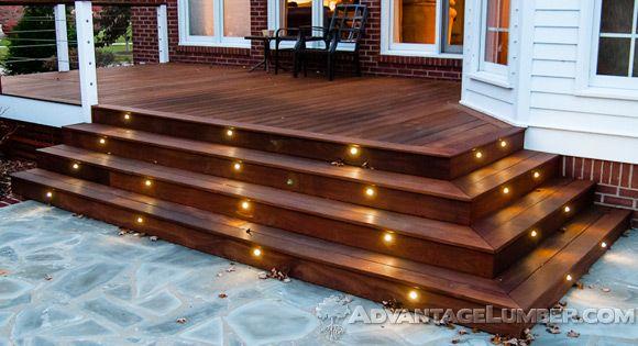 Hearthstone pinterest decking lights and house deck advantage deck lighting led post caps rail lights aloadofball Choice Image