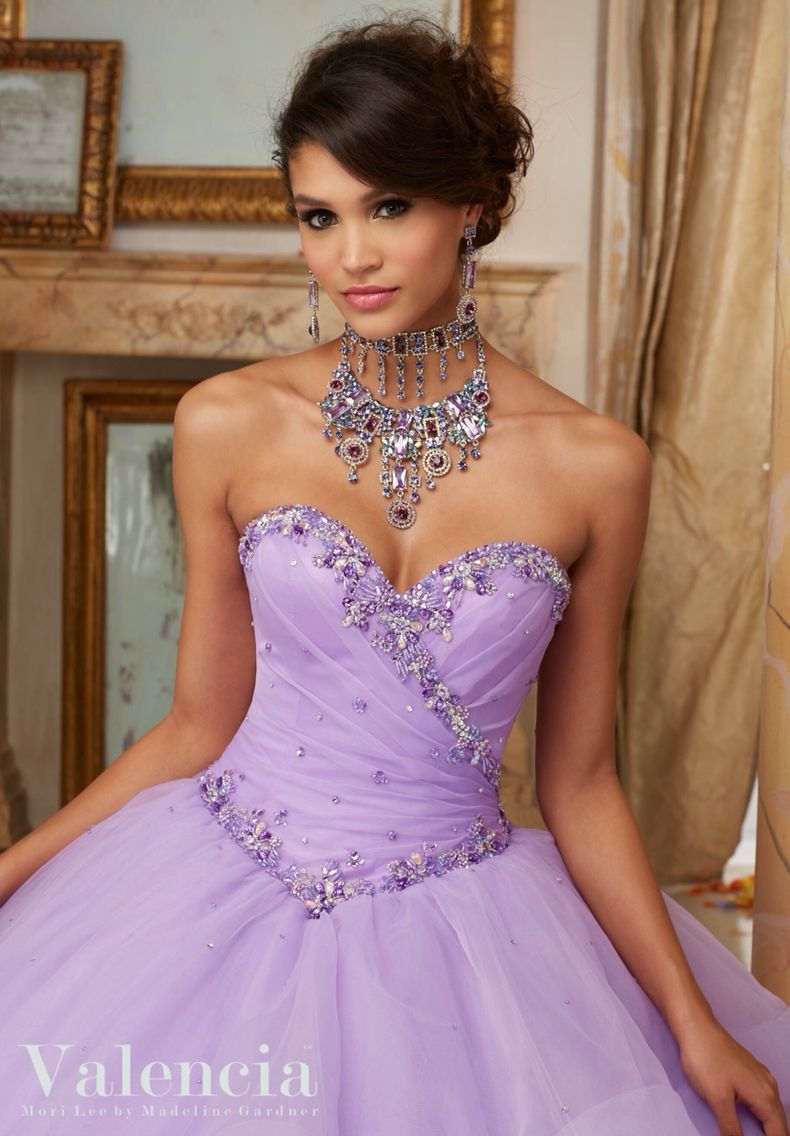 Morilee Valencia Quinceanera Dress 60001 JEWELED BEADING ON FLOUNCED ...
