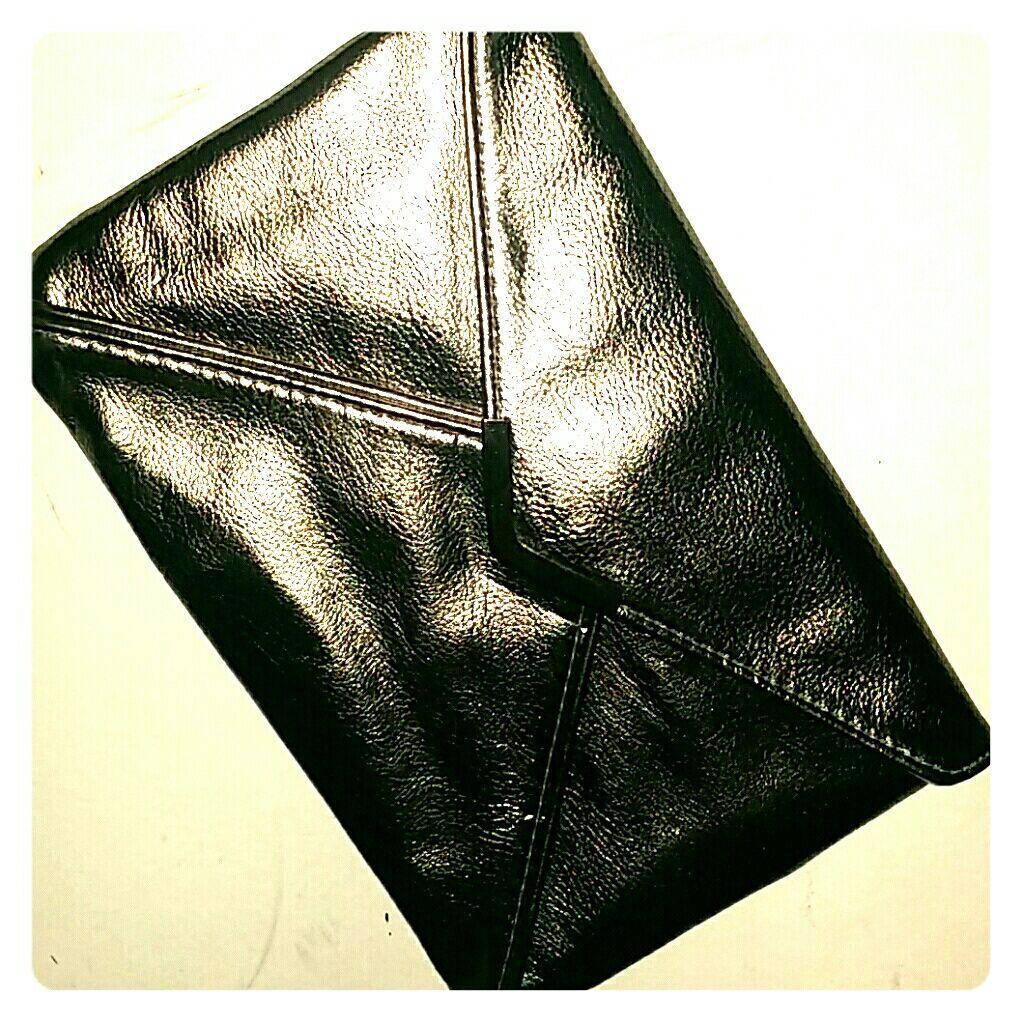Sliver/Brown Metallic Clutch