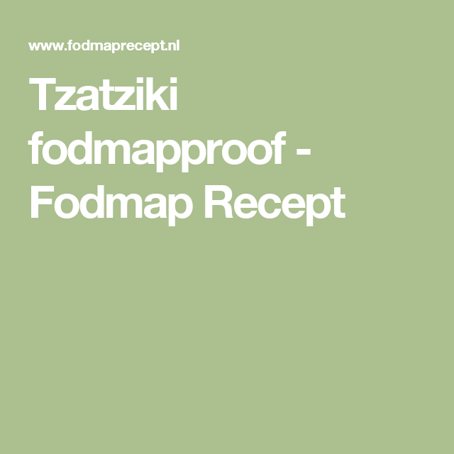 Tzatziki fodmapproof - Fodmap Recept