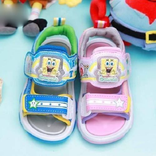 the latest 625f0 a424a Spongebob Kid LIGHT-UP Sandals Shoes LED SG3354