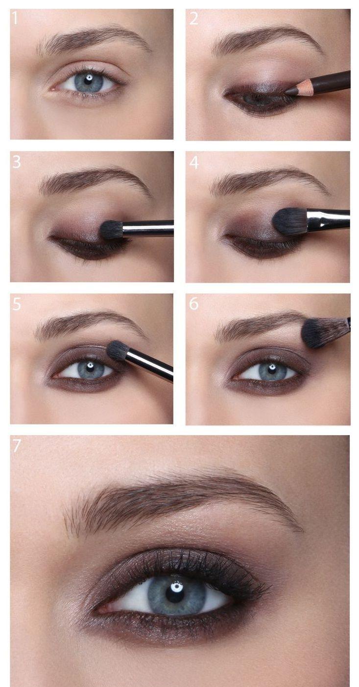 brown eyes Blue eye makeup, Bridal smokey eye makeup