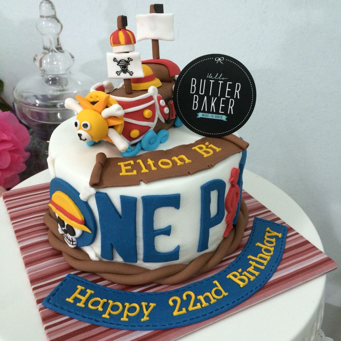 Strange Fondant Cake One Piece Top Birthday Cake Pictures Photos Images Funny Birthday Cards Online Aboleapandamsfinfo