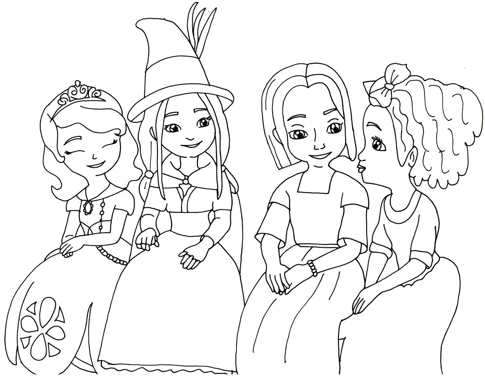 Princess Sofia Coloring Page Futpal Com Santa Coloring Pages