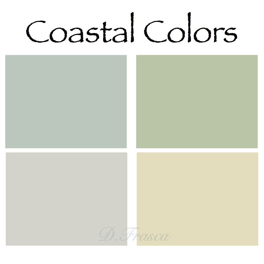Coastal color palette donna frasca colors pinterest for Coastal living exterior paint colors