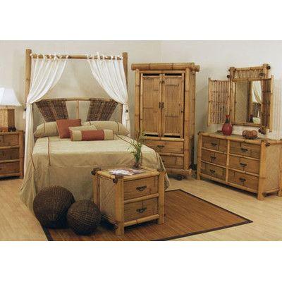 Wicker Bedroom Furniture Sets on Rattan Hawaii Bamboo Queen Bedroom