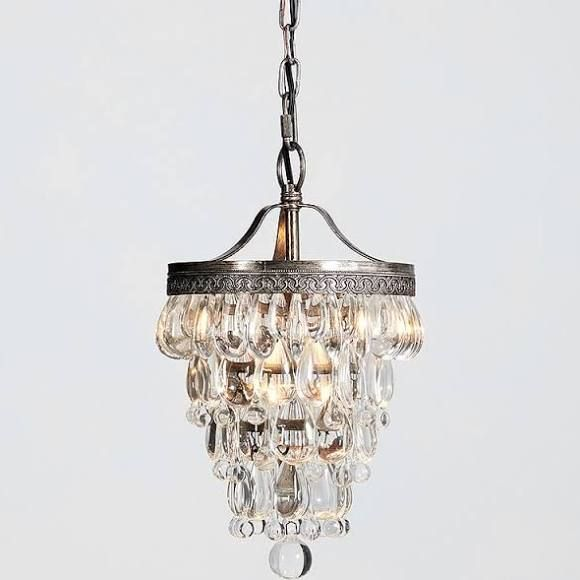 Pottery barn 5421388 clarissa crystal drop small round chandelier pottery barn 5421388 clarissa crystal drop small round chandelier petite 9 diameter aloadofball Gallery