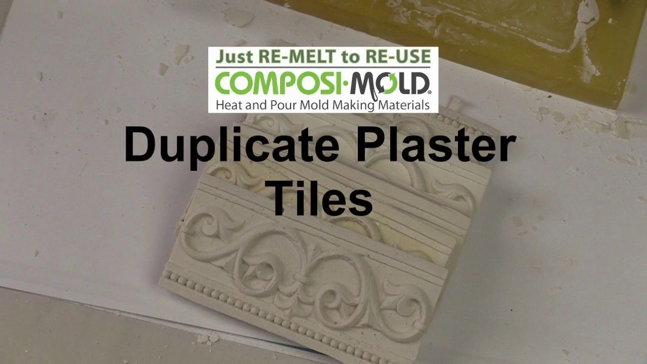Make Your Own Plaster Tiles With Composimold And Composimold Plaster Mold Making Materials Mold Making Plaster