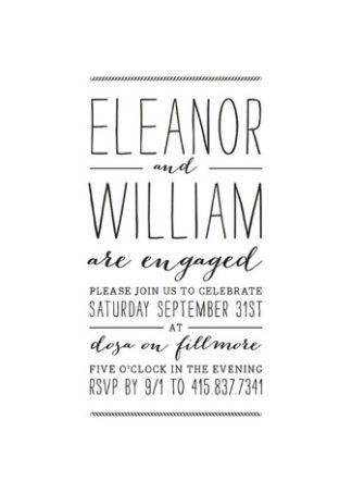 22 Engagement Party Invites To Say Yes To Engagement party