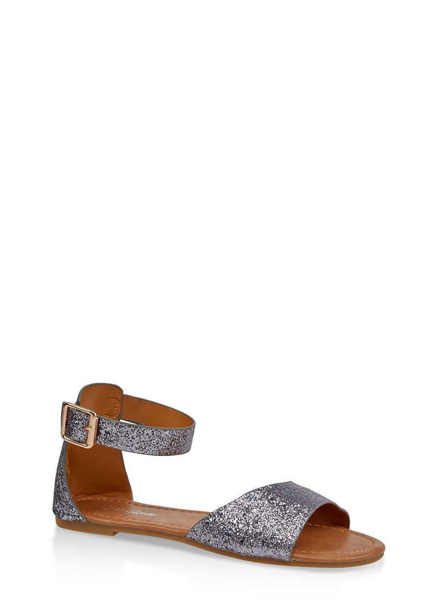 20f923551ca Girls 11-4 Glitter Ankle Strap Sandals in 2019 | Products | Ankle ...