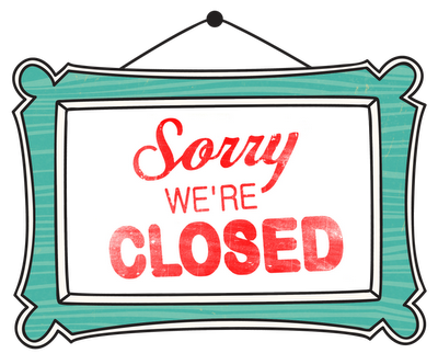 Sorry We Are Closed Sign Png 400 322 Sorry We Are Closed Closed Signs Close Today