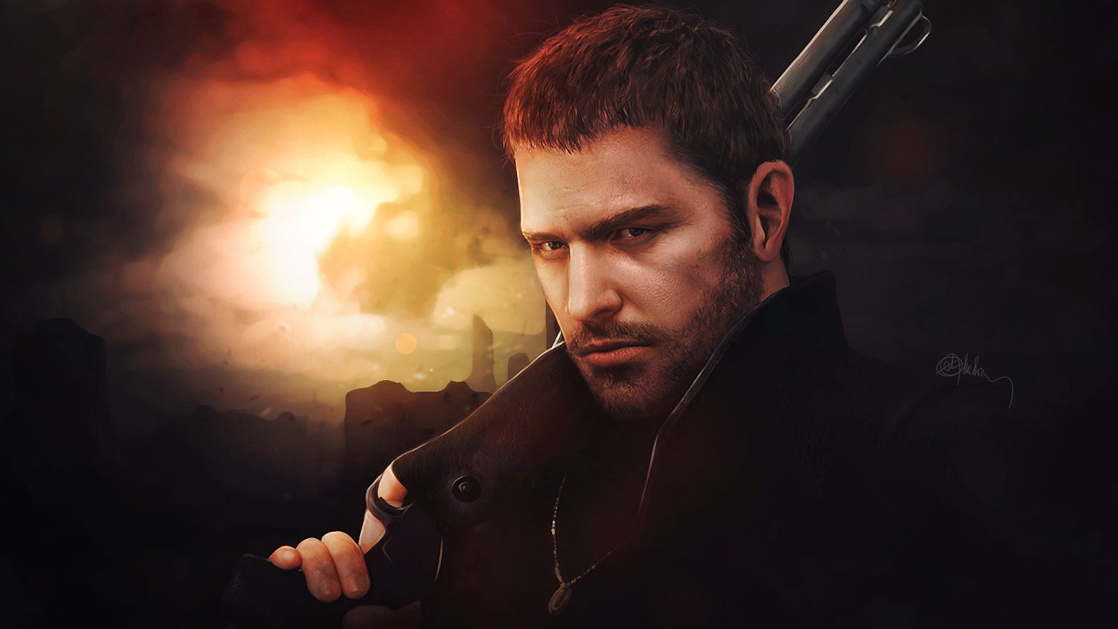 Photorealistic Chris Redfield Resident Evil 6 By Push Pulse