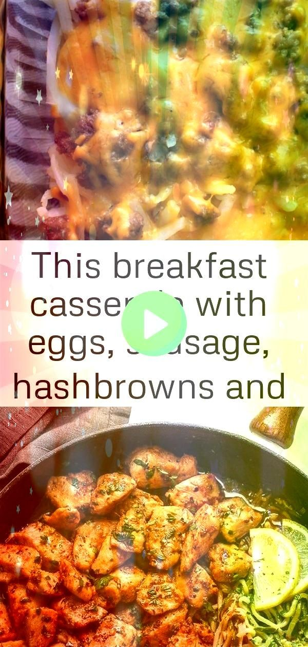breakfast casserole with eggs sausage hashbrowns and cheesy only has 5 ingredients and come 8 This breakfast casserole with eggs sausage hashbrowns and cheesy only has 5...