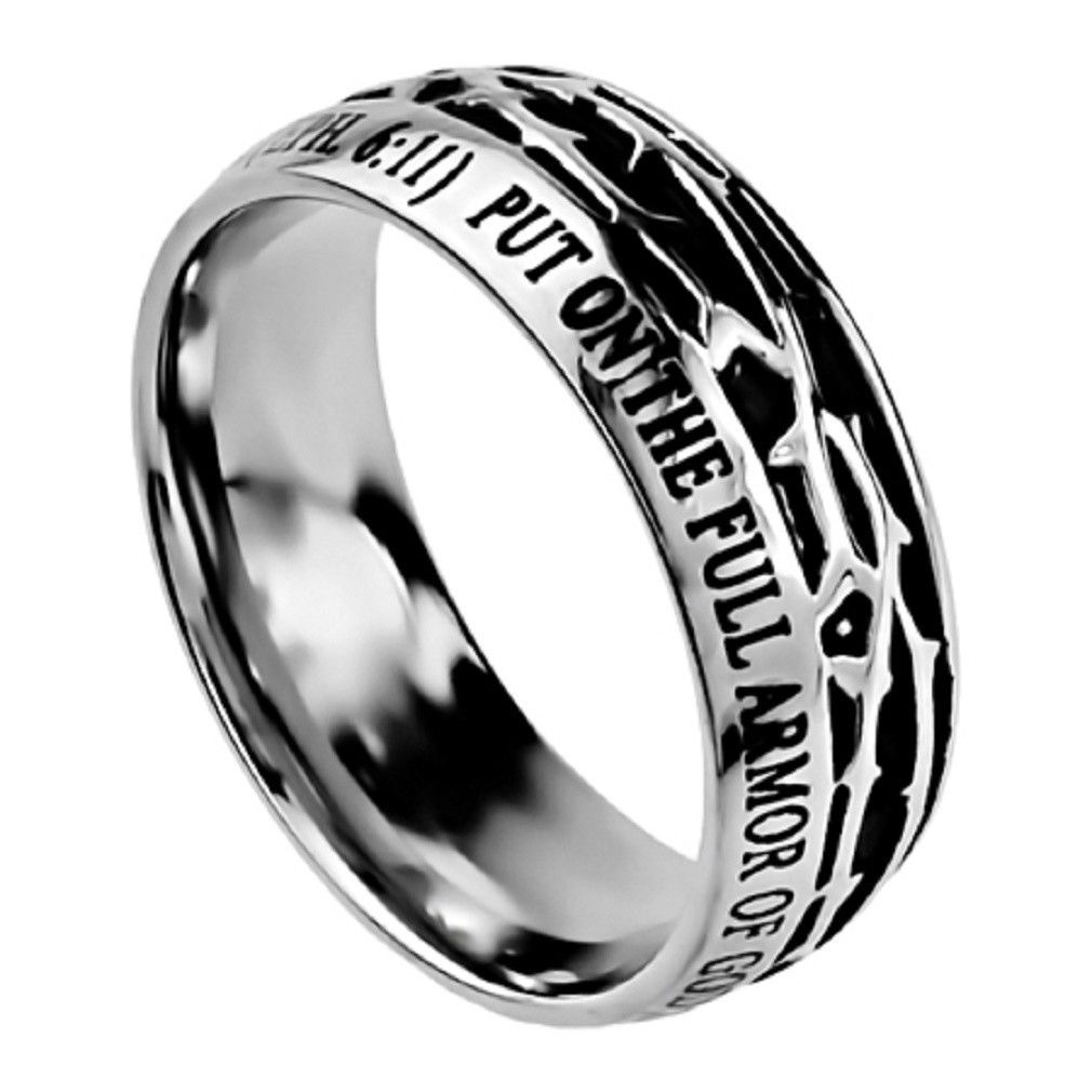 Armor of god ephesians 611 mens crown of thorns ring
