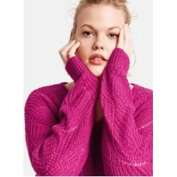 Photo of Samoon Sweater mit Strickmuster Lila / Pink / Rot / Orange Gemusterte Damen Gerry Weber