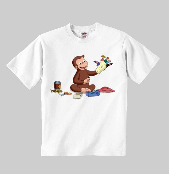 curious george master shirt white children t-shirt child furnished a comfortable 100% cotton shirt todder kids clothing gift infant