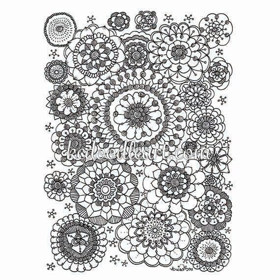 Black and white instant digital download - mandala ...