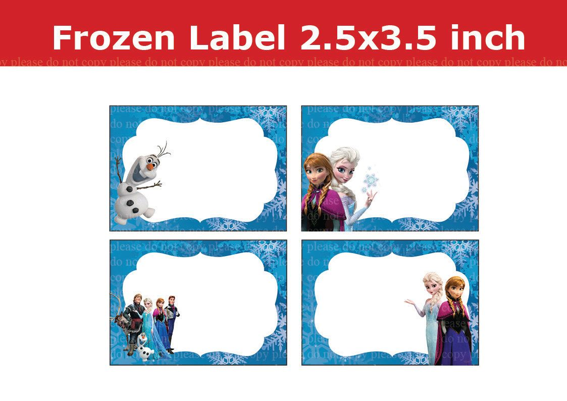 photograph relating to Frozen Printable Labels called Disney Frozen Printable Labels No cost Snow bash Occasion