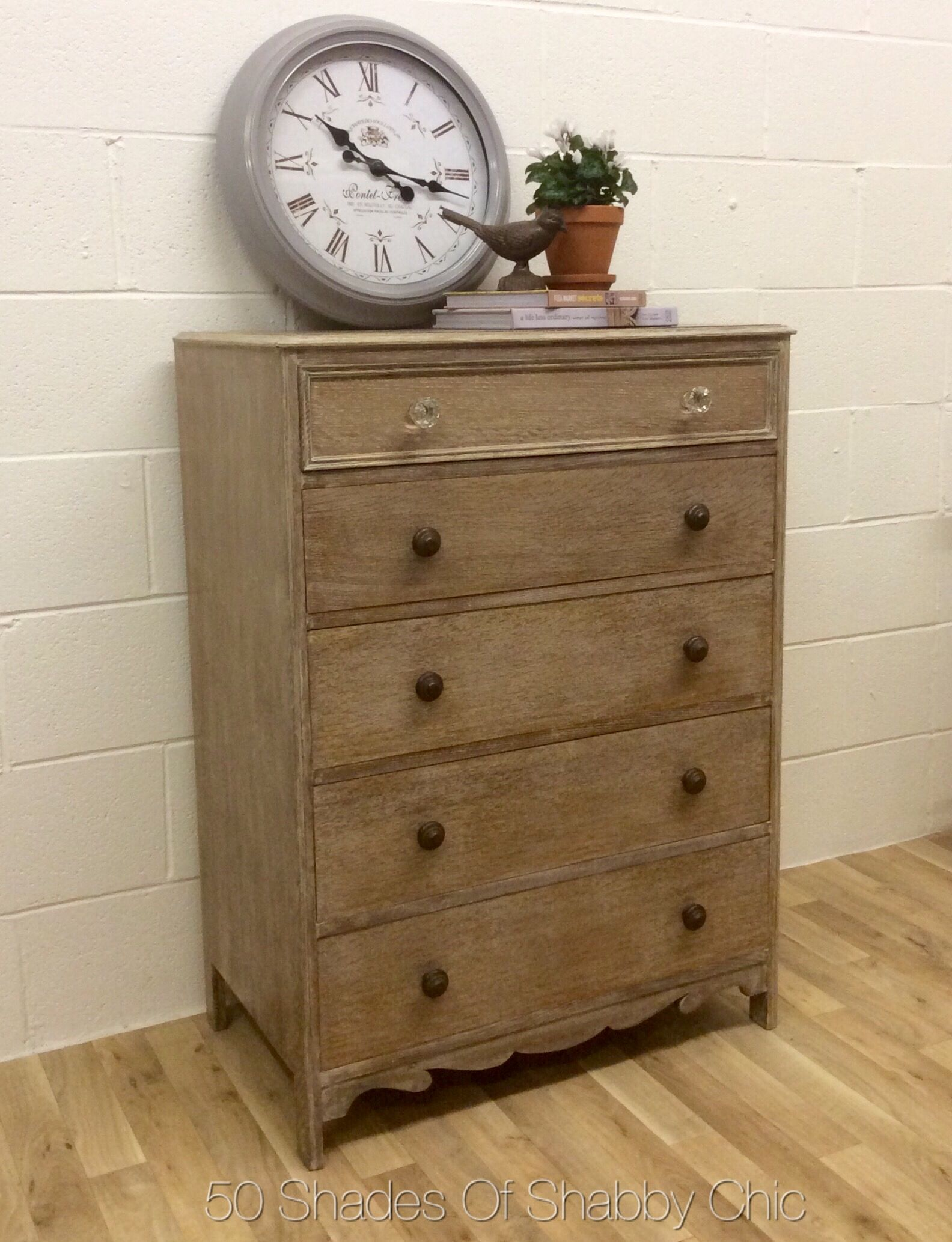 Vintage Rustic Style White Washed Oak Tallboy Chest Of Drawers A Solid Piece Of Furniture S White Washed Oak Tallboy Chest Of Drawers Dresser As Nightstand