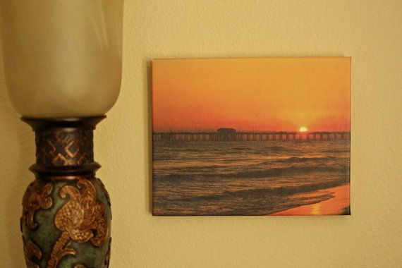 Sunset at the Pier by OccasionalNoteCards on Etsy