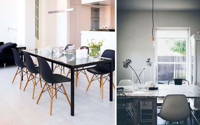 Ideas para decorar comedores con sillas Eames Dining area