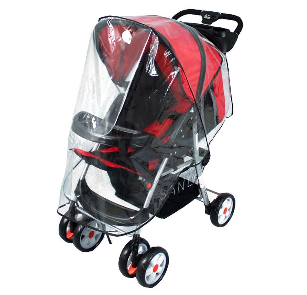 Baby Stroller Weather Shield Rain Zipper Cover Transparent Stroller/'s Rain Cover