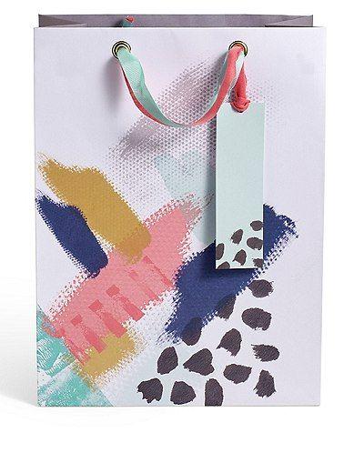 Artistic Brush Stroke Large Gift Bag | Marks & Spencer London